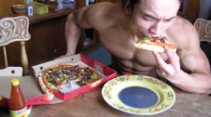 Pizza para ganar calorías extras