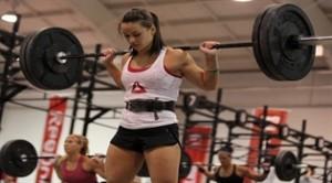 Camille Leblanc-Bazinet sentadilla en CrossFit