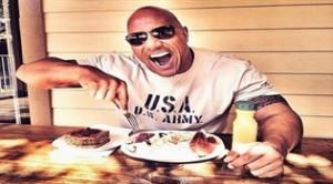"""Dwayne Johnson """"The Rock"""" y su comida nutricional"""